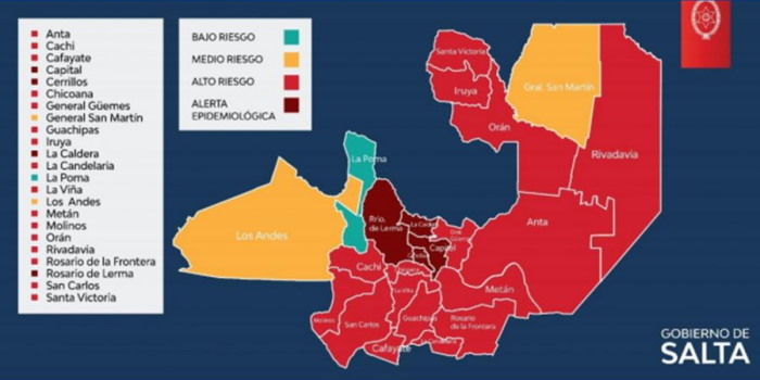 COVID-19: Son 16 los departamentos con alto riesgo sanitario y 4 en alerta epidemiológica