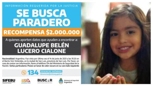 Interpol emitió un alerta amarilla para reforzar la búsqueda de Guadalupe